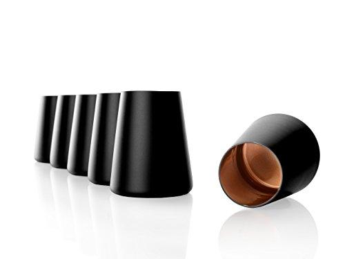 Stölzle Lausitz Becher Power, 380 ml, 6er Set in schwarz (matt) und Bronze, universell einsetzbar, für Wasser, Säfte, Wein, spülmaschinenfest, mit organischen Farben besprüht
