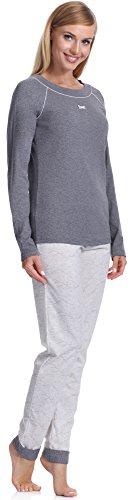 Italian Fashion IF Damen Schlafanzug Donata 0223 Melange/Ecru