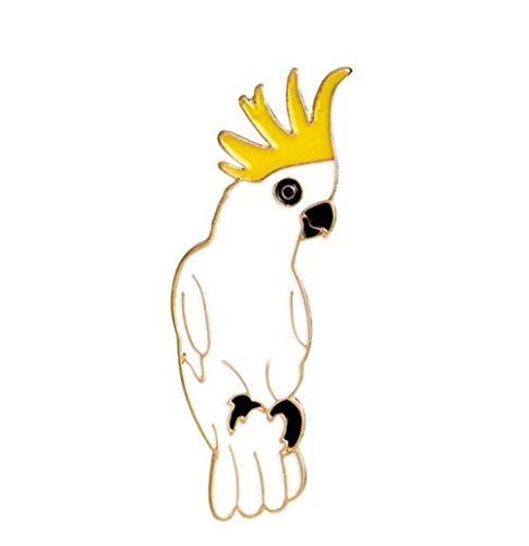 MEIDI Home Weißer Papagei Broschen Button Badge Creative Lovely Abzeichen Exquisite Creative Cute -