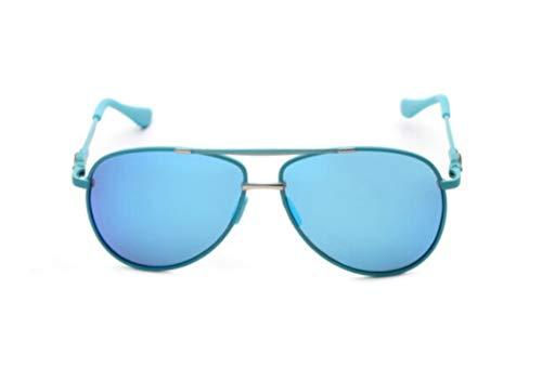 XIAOGUAI66 Jungen und Mädchen Polarisator Jugend Sonnenbrille bunten Film Frosch Spiegel reflektierende Sonnenbrille Kinder Brille Männer und Frauen hellblau Rahmen Eisblau Polarisator
