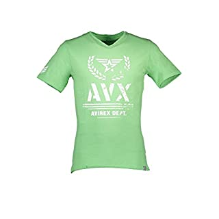 AVX AVIREX DEPT AVBWTS02THUN T-Shirt Short Sleeves Men Green 8-Romeo 2XL