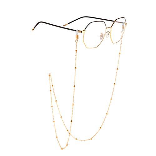 Comtervi Brillenkette Perlen Gläser Schnur Sonnenbrille Lanyard Halter Gurt, Brillenketten für Lesebrillen Perlen Brillen Cord Sonnebrillen Band 79cm