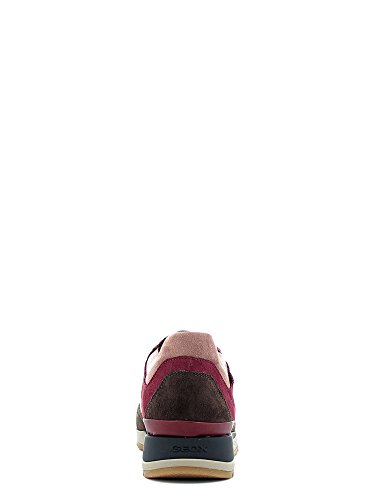 Basket, couleur Brun clair , marque GEOX, modèle Basket GEOX D SHAHIRA Brun Clair red