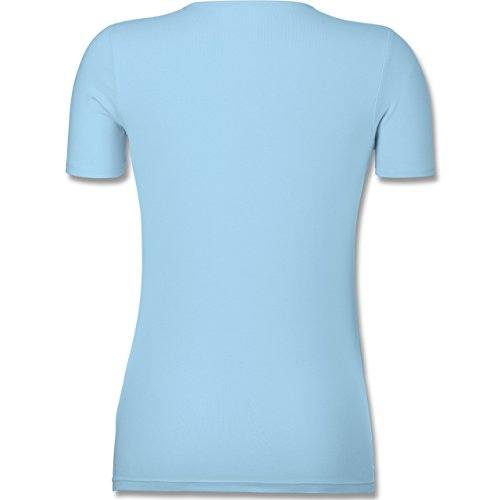 Shirtracer American Football - any Given Sunday Football Minnesota - Tailliertes T-Shirt mit V-Ausschnitt für Frauen Hellblau