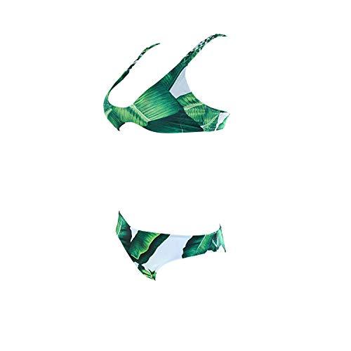 Weifengjiaju Traje baño Explosion Green Leaf Multi-Cuerda