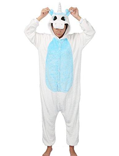 Très Chic Mailanda Unisex Erwachsene Schlafanzug Karneval Tier Cosplay Plüschtier Kapuzenkostüm(Blau (Mädchen Cosplay Pokemon Kostüme Für)