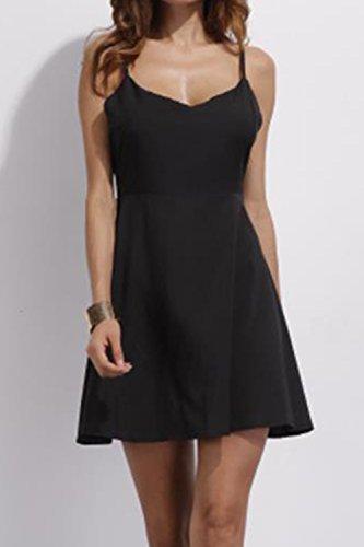 Pizzo Ali donna imbracatura vestito sottile Black