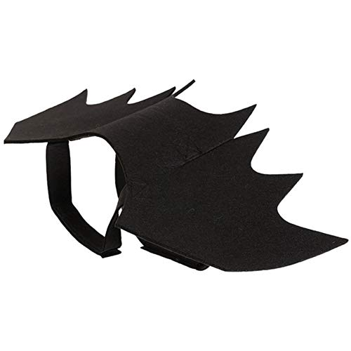 Trifycore Kreative Haustier-Bat Vampir Kostüm Technologie Flügel Hundekleidung Schläger-Halloween-Abendkleid Hund Katze Schwarz (S), Kleine Zoohandlungen
