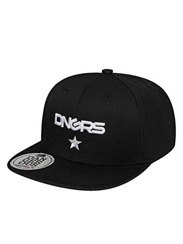 Dangerous DNGRS Herren Snapback Caps Logo schwarz Verstellbar
