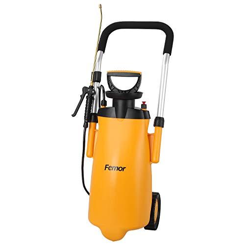 femor Drucksprüher 12L Pump Action Drucksprüher Bewässerungssprühflasche-Riemenrad 12L Hand-Push Sprinkler Spray Bewässerung