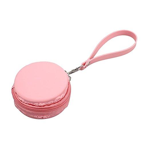 Preisvergleich Produktbild tankerstreet Portemonnaie Staubbeutel für Frauen Mädchen Kinder Damen Gummi, Silikon Small Coin Geldbörse Runde Münze Beutel Staubbeutel Fall Kunststoff,, doppelseitig Make-up Schlüssel Fall Geldbörse Taschen Halter mit Schlüsselanhänger Loop (Pink)