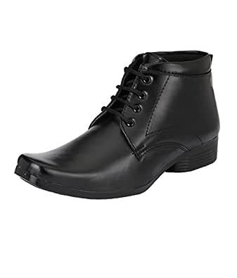 SHOE DAY Men's Faux Leather Formal Shoes Black