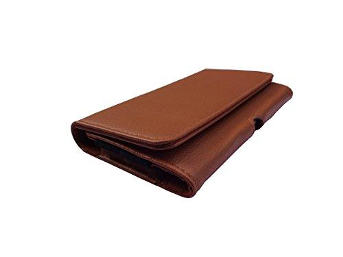 ATV PU Leather BRONZE Color Pouch Case Flip Cover For VIVO V3