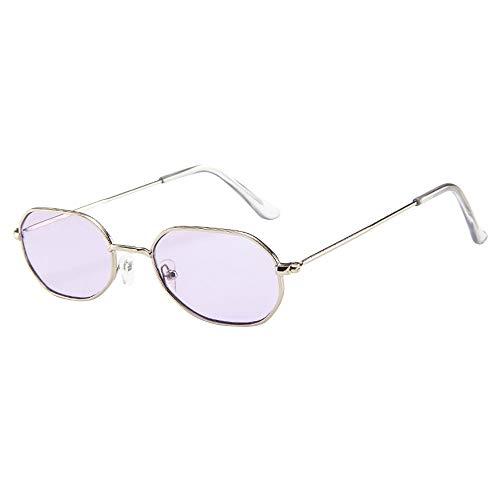 Leedy occhiali da sole stile retrò, occhiali ovali unisex, metallici antivento chic