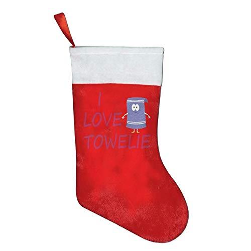 Daisylove Weihnachtsstrumpf I Love Towelie, Filz