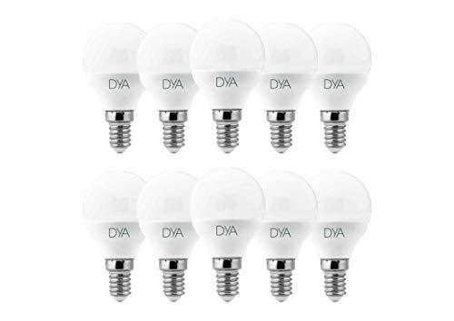 SET di 10 LAMPADINE LED SFERA G45 LED, 6W, 570Lumen, Attacco E14, LUCE NATURALE 4000K°