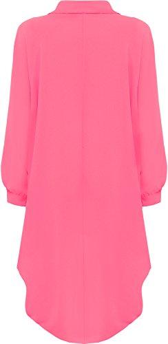 WearAll - Camicia lunga / Vestitino, maniche lunghe, orlo, taglie da 44 a 54 Cerise