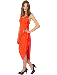Versace Kleid Damen Orange Einfarbig Viskose/Rayon 42 IT