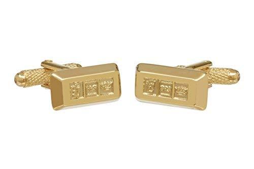 Onyx Art Lingot d'or Boutons de manchette en Box - lingot d'or Boutons de manchettes