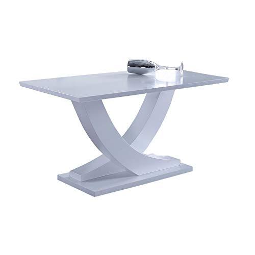 KITKAY Mesa Comedor Extensible Lacado Blanco Mate: Amazon.es: Hogar