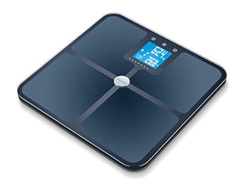 Beurer BF 950 Diagnosewaage schwarz, Messung von Körperfett, Körperwasser, Muskelanteil und Knochenmasse, Kalorienbedarf AMR/BMR, BMI, mit App-Anbindung, zertifizierter Datenschutz