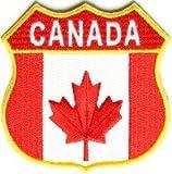 Applikation Aufbügler Patches Stick Emblem Aufnäher Abzeichen ,, Kanadisches Schild Patch - Kanada-Flagge - 2.75x2.75 Zoll ,,