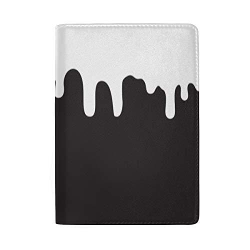 zze der schmelzenden Schokolade, die Druck blockiert Reisepass-Halter-Abdeckungs-Fall-Reisegepäck-Reisepass-Geldbörsen-Kartenhalter gemacht mit Leder für Mann-Frauen-Kinderfamilie ()