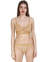 b09314b63 Cloud Dove Equisite Lace Non Padded Wirefree Bra and Panty Set for Woman