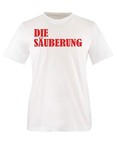 Comedy Shirts - Die Saeuberung - Mädchen T-Shirt - Weiss/Rot Gr. 98-104 (Säuberung Die Mädchen)