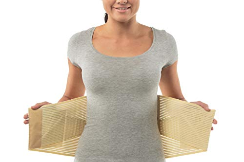 """Medizinische Qualitäts-Rückenbandage - Orthopädischer Rückenstützgürtel mit Stützfunktion - Perfekter Sitz, Doppelverschluss Rückenstütze zur Schmerzlinderung - Größe 6: 119-128 CM; 46.85-50.39\"""""""