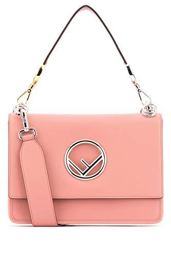 Fendi Damen 8Bt2842ihf13do Rosa Leder Handtaschen