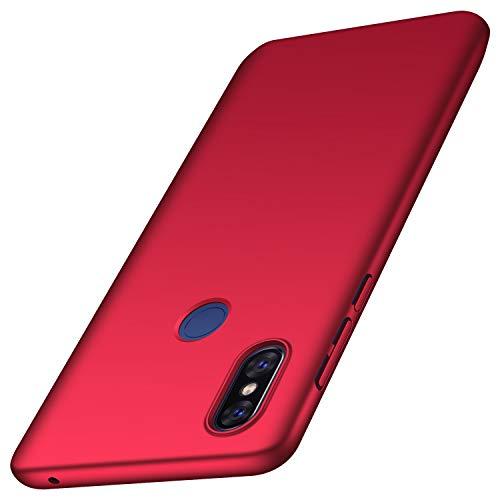anccer Serie Matte für Xiaomi Mi Mix 3 Hülle, Elastische Schockabsorption & Ultra Thin Design (Glattes Rot)