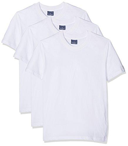 Navigare 513, maglietta uomo, pacco da 3, bianco, large (taglia produttore:5)