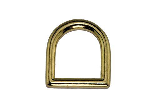 Haute moitié Anneaux en laiton/anneaux en D/doré