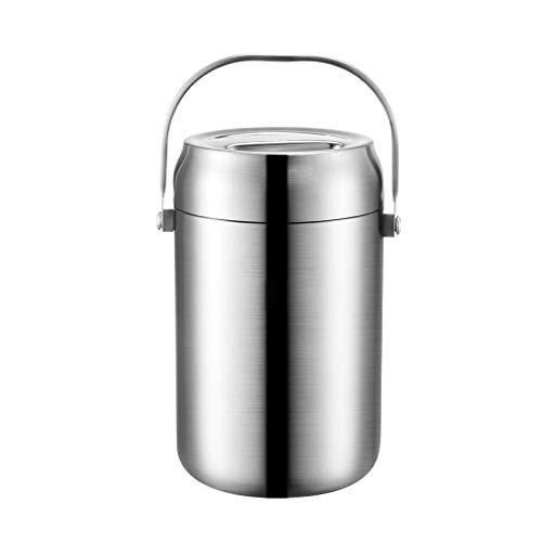 MIAOLIANG Bento Boxen 2L Edelstahl Vakuum Überlaufschutz Bento Boxen, Student Kind Adult Food Gläser & Kanister -