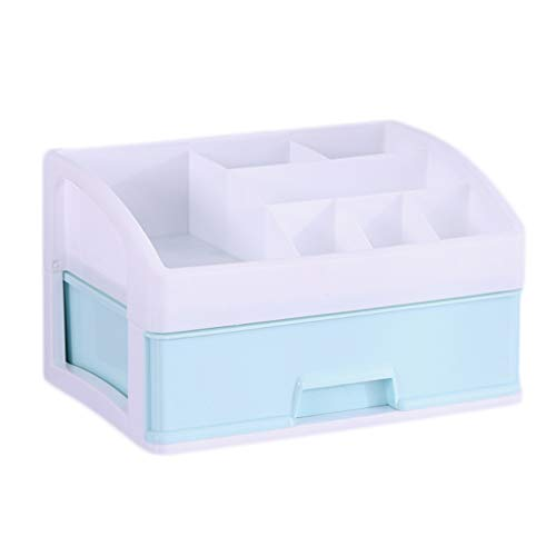 KKY-ENTER Type de tiroir multi-grille Boîte de rangement cosmétique En plastique Simplicité Bureau Rouge à lèvres Bijoux Produits de soin de la peau Boîte de stockage