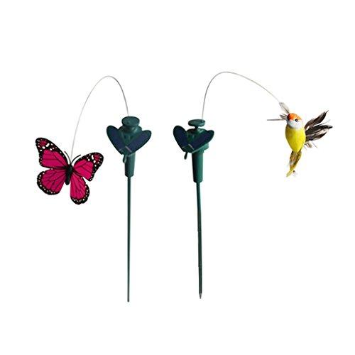 non-brand MagiDeal Tanzender Schmetterling Vogel Kolibri der Hingucker für Garten Balkon Deko -