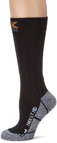 X-Socks Funktionssocken Trekking Light Mid Calf Trekkingsocke, Blackmelange, 1
