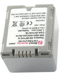 Akku Typ PANASONIC CGR-DU06, Hohe Leistung, 7.2V, 1440mAh, Li-Ionen Panasonic Typ