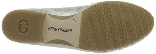 GERRY WEBER Sherly 13, Mocassins Femme Silber (offwhite-kombi)