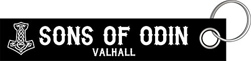 Shirtzshop Sons of Odin Valhall Walhalla Schlüsselanhänger Schlüsselband Keyholder Lanyard