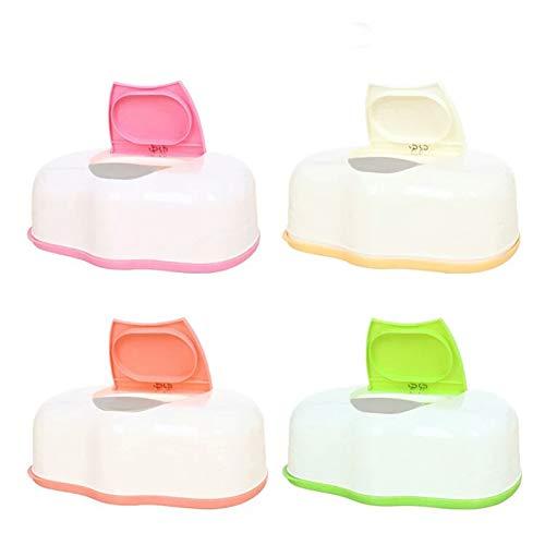 Mooouk Pop-Up-Tuchetui, Baby-Feuchttücher-Halter, Box für Feuchttücher, Organizer für Zuhause und Reisen, Zufällige Farbauswahl, Free Size