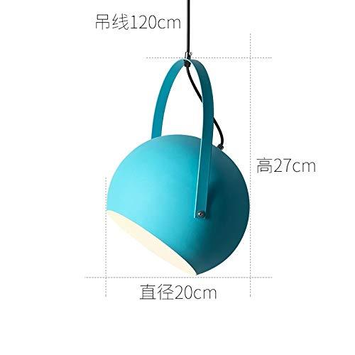 Taiwan Arbeitszimmer Lampe kleinen blauen Durchmesser 20cm mit monochromen LED-Weißlicht 9 Watt Birne