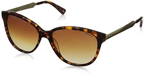 Polaroid Sunglasses Women's Pld4033s Polarized Square Sunglasses, Havana/Brown, 58 mm image