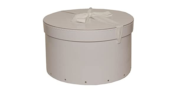 Home & Kitchen Round Couture Range Lined Flower Hat Boxes Set of 3 Jewelry Boxes & Organizers Cream
