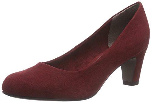 Tamaris22442 - Scarpe con tacco chiuse donna Rosso (Red - Rot (Merlot 537))