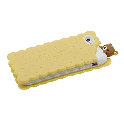 iPhone 5S Hülle, [ flexibles TPU materielles Popcorn ] Handyhülle für iPhone 5G 5 SE 5C, Staub-Beleg-Kratzer beständig, stilvoll haltbare weiche case gelb