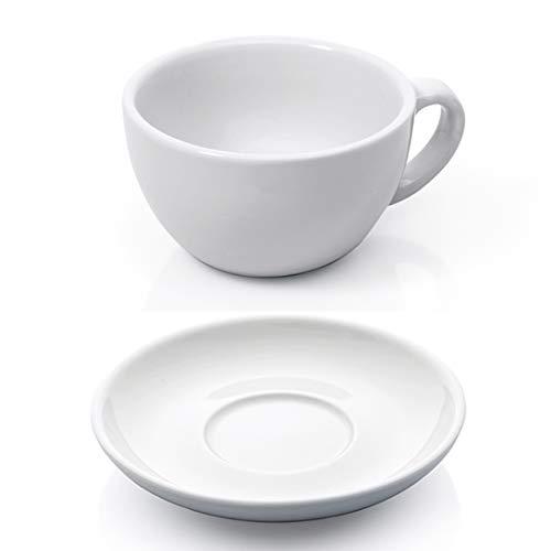 Gastro Spirit - 12-teiliges Cappuccino-Tassen/Kaffee-Tassen Set - Weiß, 200 ml, Porzellan, dickwandig, spülmaschinenfest, Gastronomie-Qualität