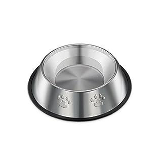TREESTAR Hunde-Fressnapf mit Pfotenabdrücken, aus Edelstahl, Durchmesser 15 cm Diametro 15cm Acciaio inossidabile