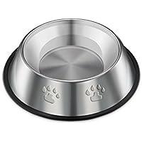 WeiMay Haustier Schüssel Edelstahl Hundenapf Katzennapf Rutschfest Futternapf Wassernapf 15cm